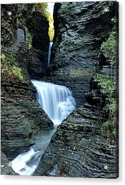 Three Falls In Watkins Glen Acrylic Print by Joshua House