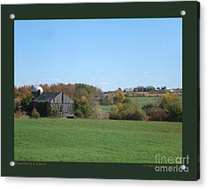 Three Farms In Autumn Acrylic Print