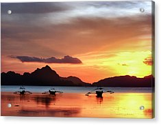 Acrylic Print featuring the photograph Three Fishermen by John Swartz