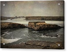 Three Fishermen Acrylic Print by Laurie Search