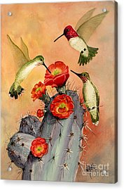 Three For Breakfast Acrylic Print by Marilyn Smith