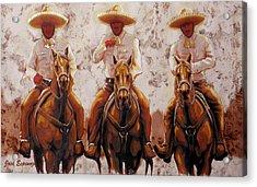 Three Friends Acrylic Print by J- J- Espinoza