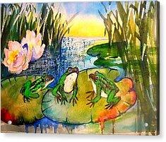 Three Frogs Acrylic Print