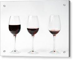Three Glasses Of Wine  Acrylic Print