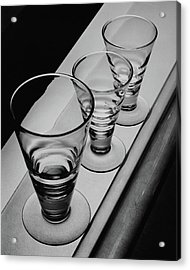 Three Glasses On A Shelf Acrylic Print