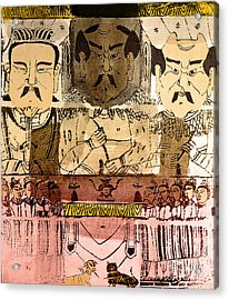Acrylic Print featuring the photograph Three Gods, Founders Of Chinese Medicine by Wellcome Images