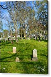 Three Gravestones Acrylic Print by Alys Caviness-Gober