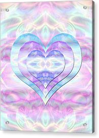 Three Hearts As One Acrylic Print
