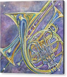 Three Horns Acrylic Print by Jenny Armitage