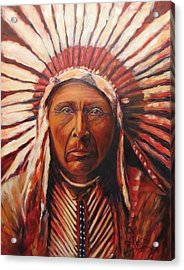 Three Horses, Native American  Acrylic Print