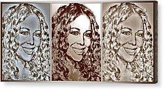 Three Interpretations Of Mariah Carey Acrylic Print by J McCombie
