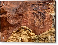 Three Kings Petroglyph - Mcconkie Ranch - Utah Acrylic Print