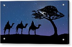 Three Kings Acrylic Print by IM Spadecaller