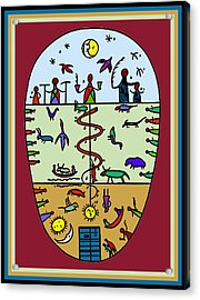 Acrylic Print featuring the digital art Three Layers Of Life by Vagabond Folk Art - Virginia Vivier