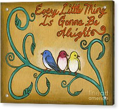 Three Little Birds Acrylic Print