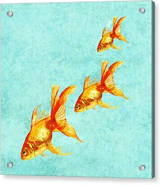 Three Little Fishes Acrylic Print