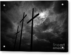 Three Lonely Crosses In The Mississippi Delta Acrylic Print
