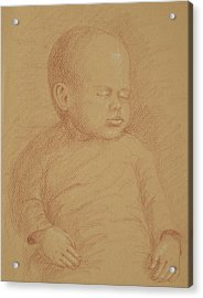 Three Months Old Acrylic Print by Deborah Dendler