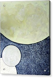 Acrylic Print featuring the painting Three Moons by Carolyn Goodridge
