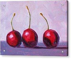 Three Acrylic Print by Nancy Merkle