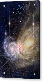 Three Of Wands/stars - Artwork For The Science Tarot Acrylic Print