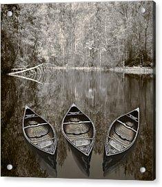 Three Old Canoes Acrylic Print
