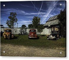 Three Old Timers Acrylic Print by Thomas Young