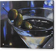 Three Olive Martini Acrylic Print