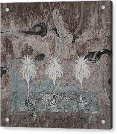 Three Palms Oasis Acrylic Print