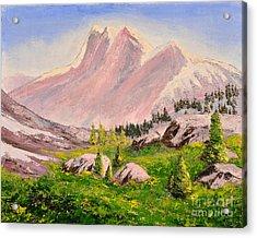Three Peaks Acrylic Print