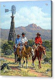 Three Riders Acrylic Print by Randy Follis