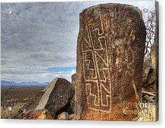 Three Rivers Petroglyphs 4 Acrylic Print by Bob Christopher