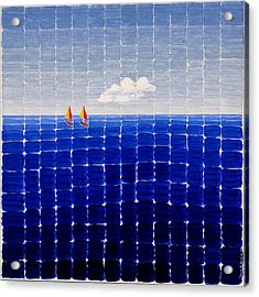 Three Sail Boats #2 Acrylic Print
