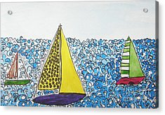 Three Sails Acrylic Print