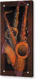 Three Sax Acrylic Print
