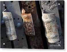 Three Shades Of Rust Acrylic Print