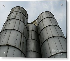 Acrylic Print featuring the photograph Three Silos by Jane Ford