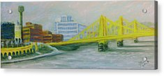 Three Sisters At Pnc Park Acrylic Print by Joann Renner