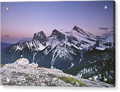 Three Sisters At Twilight Acrylic Print by Richard Berry