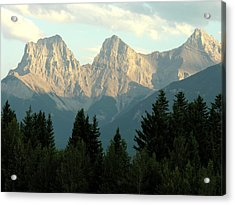 Three Sisters Canmore Alberta Acrylic Print