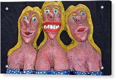 Three Sisters Acrylic Print by Charles Spillar