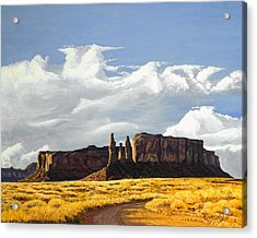 Three Sisters Monument Valley Acrylic Print