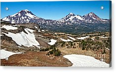 Three Sisters Panorama Acrylic Print