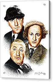 Three Stooges Acrylic Print