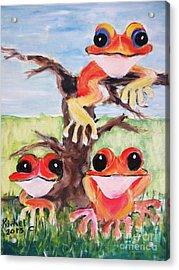 Three Tee Frogs Acrylic Print