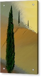 Three Tree Tuscany Acrylic Print