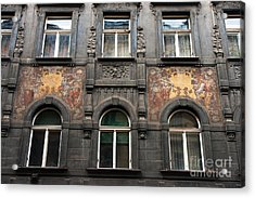 Three Windows In Prague Acrylic Print by John Rizzuto