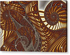 Three Wire Gnarls Acrylic Print by Mark Eggleston
