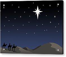 Three Wisemen Following Star Acrylic Print by Daniel Sicolo