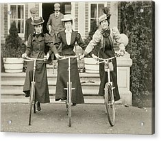 Three Women On Bicycles, Early 1900s Acrylic Print